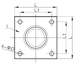 ANSI B16.5 Square Flanges Dimensions