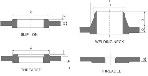 reducing-flanges-dimension