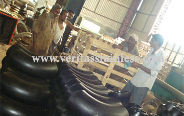 original photograph of Carbon Steel Pipe Fittings at our factory in india