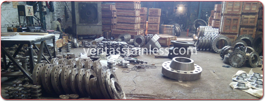 original photograph of Carbon Steel Flanges at our factory in india